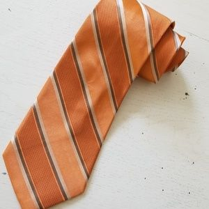 Michael Kors Necktie Orange and Silver